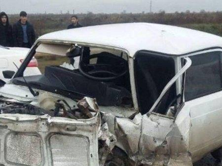 Sabirabadda zəncirvari qəza: 4 yaralı arasında polis zabiti də var