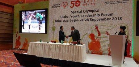 Xüsusi Olimpiya Hərəkatı ilə bağlı memorandum imzalanıb – FOTO