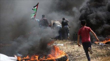 Qəzza bölgəsində gərginlik: 700 yaralı – FOTO
