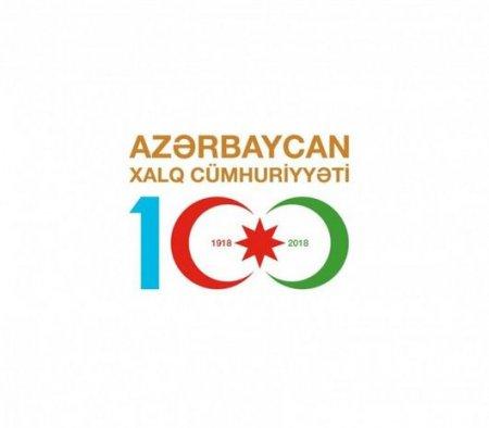 """""""Azərbaycan Xalq Cümhuriyyəti 100"""" loqotipi hazırlanıb"""