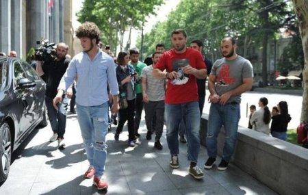Gürcü cüdoçular federasiya rəhbərinin kabinetini mismarladı