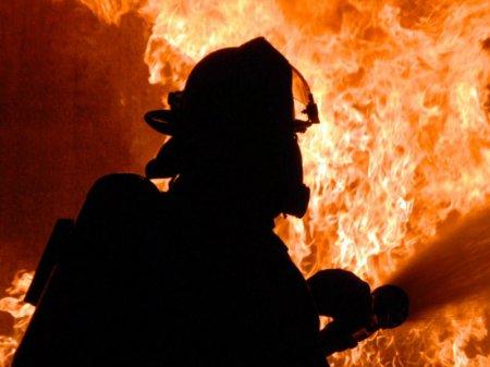 Goranboyda ev yanıb