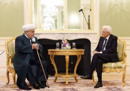 Allahşükür Paşazadə İtaliya prezidenti ilə görüşdü