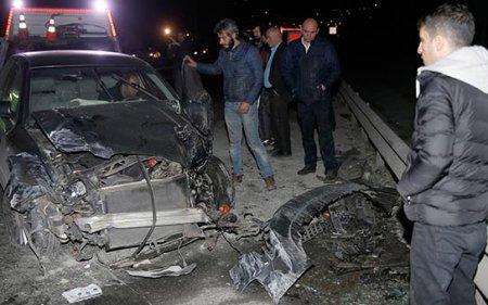Bakıda ağır yol qəzası - Hər 2 sürücü öldü