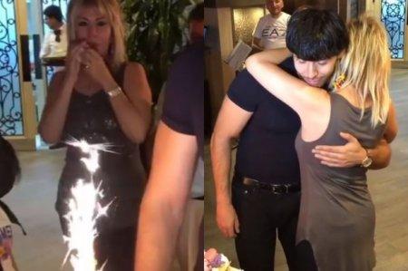 Brilliant Dadaşova oğlunun ad günündə ağladı - FOTO